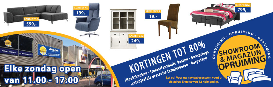 Verouden Showroom en Magazijnopruiming